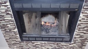 Prefabricated gas fireplace
